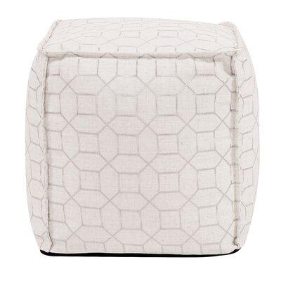 McBride Square Ottoman Upholstery: Natural