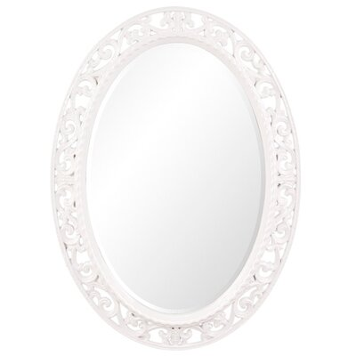 Oval Antique Bronze Wall Mirror Finish: Glossy White
