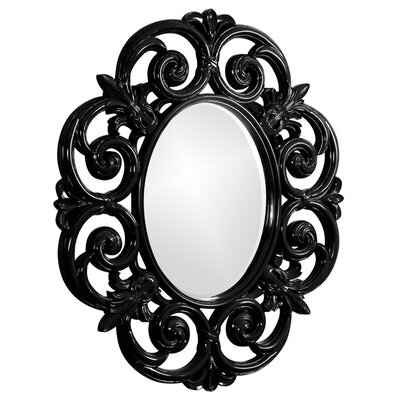 Oval Resin Wall Mirror Finish: Glossy Black