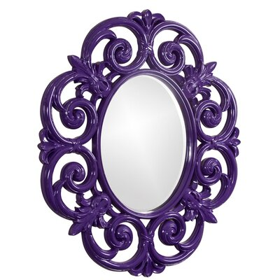 Oval Resin Wall Mirror Finish: Glossy Royal Purple