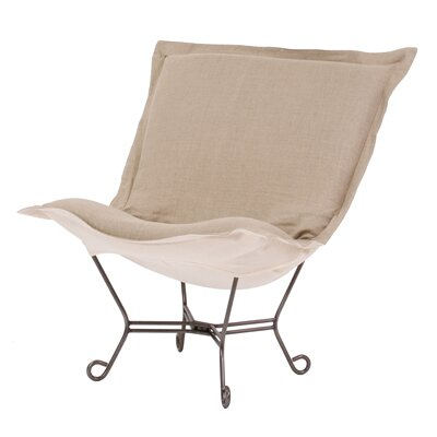 Babcock Natural Lounge Chair Color: Prairie Linen Natural and Natural