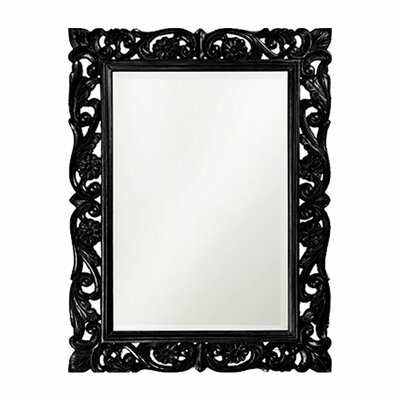 Rectangle Resin Frame Mirror Finish: Black