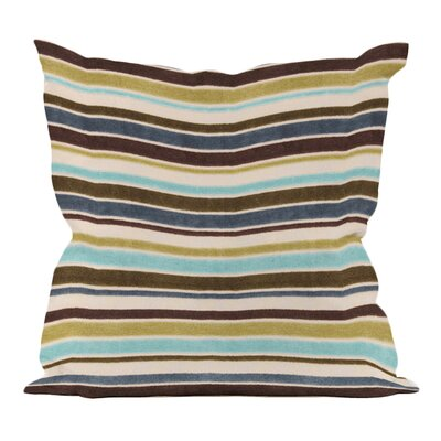 Ribbon Velvet Throw Pillow Size: 16 x 16, Color: Willow