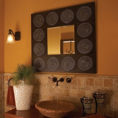 Hayworth Square Wall Mirror in Oak Stain