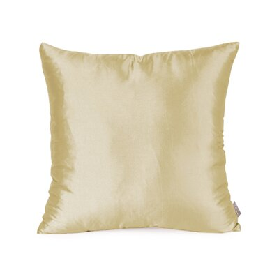 Silkara Throw Pillow Size: 16 x 16, Color: Champagne