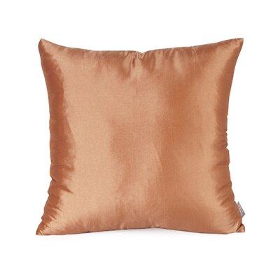 Silkara Throw Pillow Size: 16 x 16, Color: Pumpkin