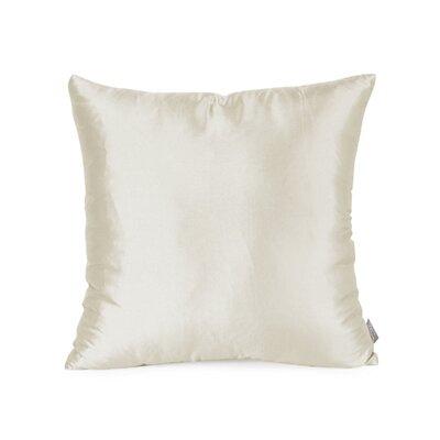 Silkara Throw Pillow Size: 16 x 16, Color: Cream