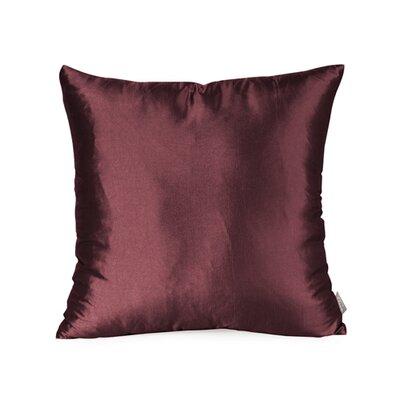 Silkara Throw Pillow Size: 16 x 16, Color: Garnet