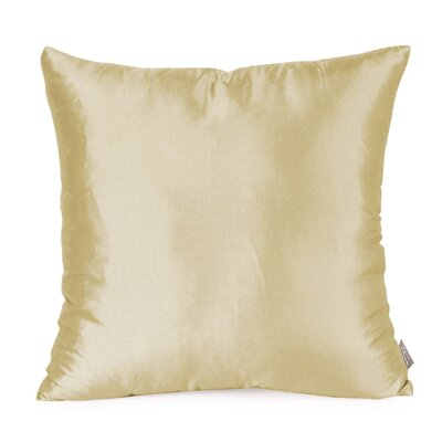 Silkara Throw Pillow Size: 20 x 20, Color: Champagne