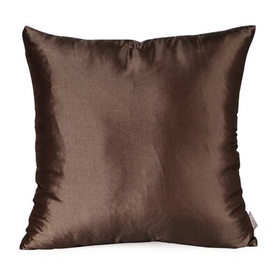 Silkara Throw Pillow Size: 20 x 20, Color: Chocolate