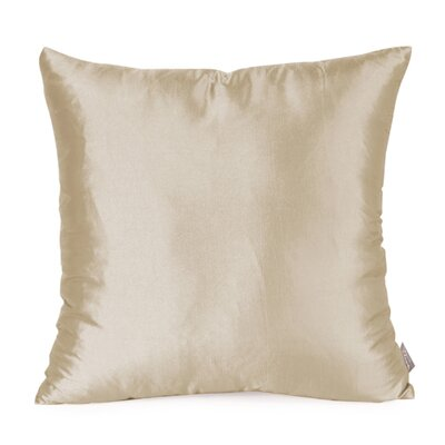 Silkara Throw Pillow Size: 20 x 20, Color: Sand
