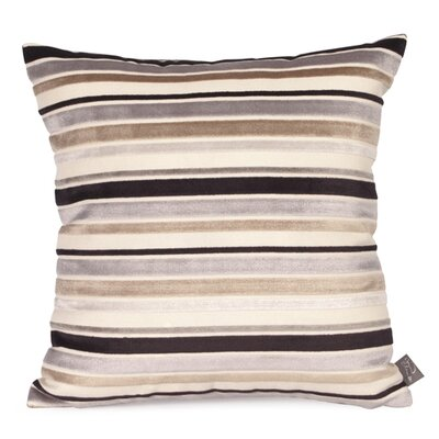 Ribbon Velvet Throw Pillow Size: 16 x 16, Color: Noir