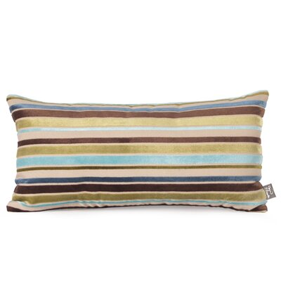 Ribbon Kidney Velvet Pillow Color: Willow