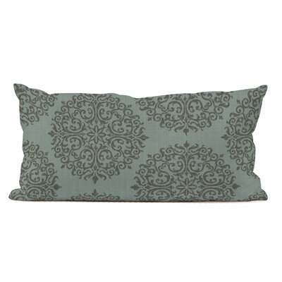 Kidney Medallion Throw Pillow Color: Shadow Teal