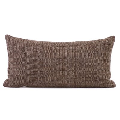 Lovina Coco Kidney Soft Burlap Lumbar Pillow Color: Slate