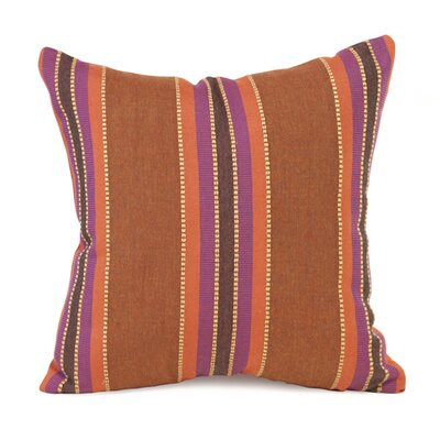 Baja Indoor/Outdoor Throw Pillow Size: 16 x 16, Color: Punch