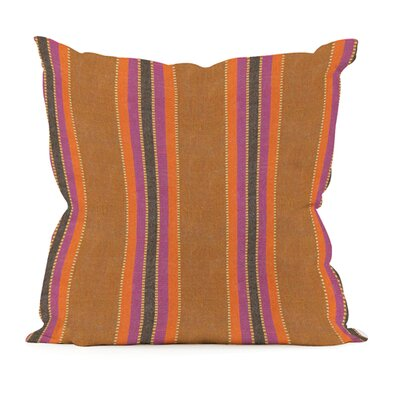 Baja Indoor/Outdoor Throw Pillow Size: 20 x 20, Color: Punch