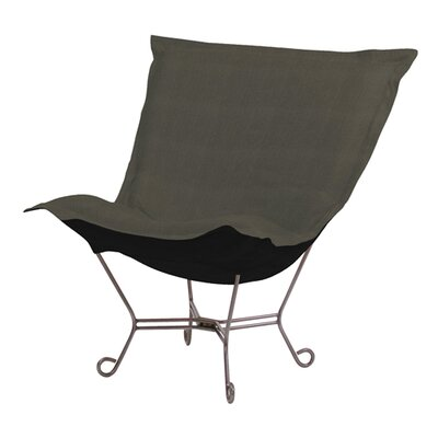 Azaria Scroll Sterling Lounge Chair Color: Charcoal