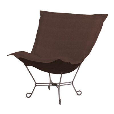 Azaria Scroll Sterling Lounge Chair Color: Chocolate