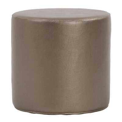 Contreras Cylinder Shimmer Ottoman Upholstery: Pewter