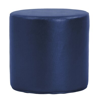 Contreras Cylinder Shimmer Ottoman Upholstery: Sapphire