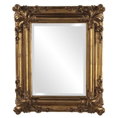 Rectangle Bright Gold Wall Mirror