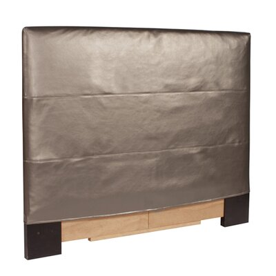 Jodie Shimmer Upholstered Panel Headboard Size: Twin, Upholstery: Pewter