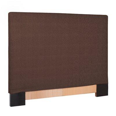 Ballenton Upholstered Panel Headboard Upholstery: Chocolate, Size: Twin