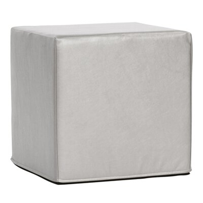 Contreras Block Shimmer Ottoman Upholstery: Mercury