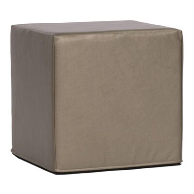 Contreras Block Shimmer Ottoman Upholstery: Pewter