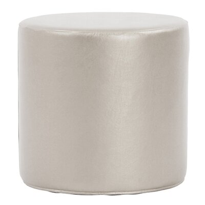 Contreras Cylinder Shimmer Ottoman Upholstery: Mercury