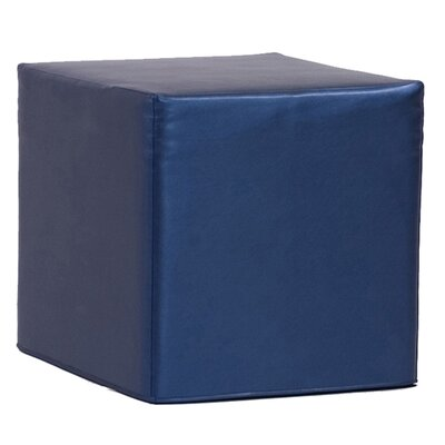 Contreras Shimme Cube Ottoman Upholstery: Sapphire