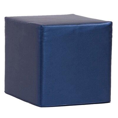 Contreras Block Shimmer Ottoman Upholstery: Sapphire