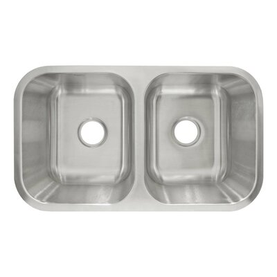 31.5 x 18.13 Undermount Double Basin Kitchen Sink