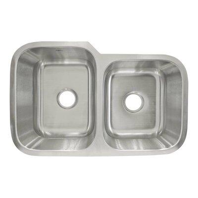 31.5 x 20.25 Undermount Double Basin Kitchen Sink