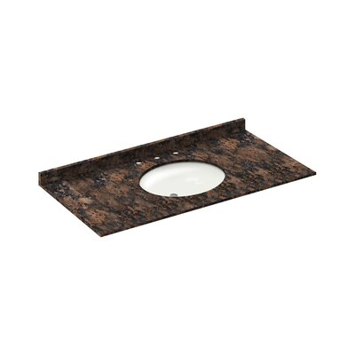 49 Single Bathroom Vanity Top Finish: Baltic Brown