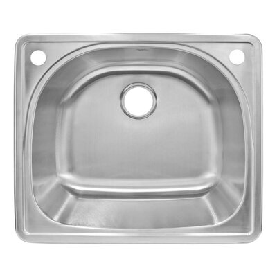 25 x 22 Self Rimming Single Basin Kitchen Sink