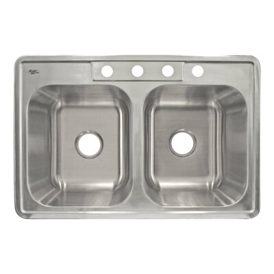 33 x 22 Self Rimming Double Basin Kitchen Sink