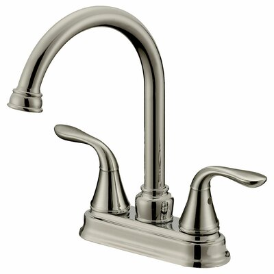 Double Handle Long Neck Bathroom Faucet