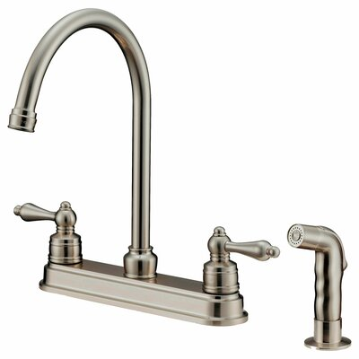 Double Handle Pull-Down Kitchen Faucet with Water Sprayer