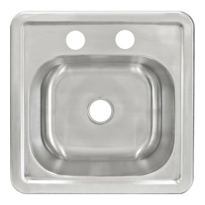 15 x 12 Self Rimming Single Basin Kitchen Sink