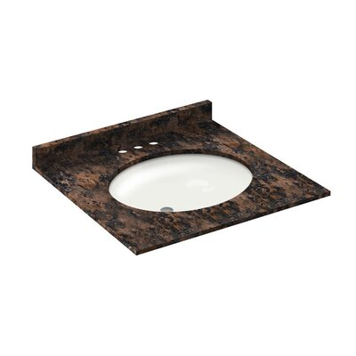 Vanity Top with Back Splash Finish: Baltic Brown