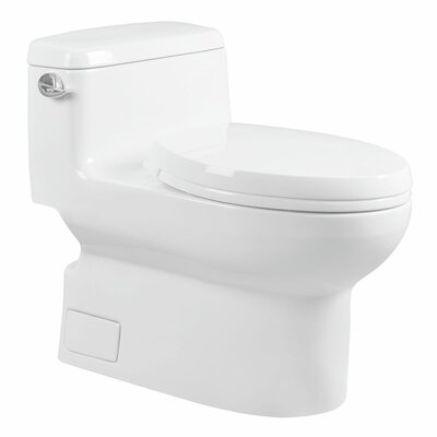 Modern 1.28 GPF Elongated One-Piece Toilet