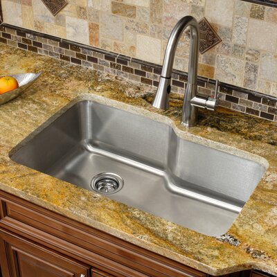 Stainless Steel 32 x 20.75 Single Basin Undermount Kitchen Sink