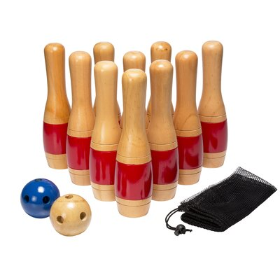 13 Piece Wooden Lawn Bowling Set