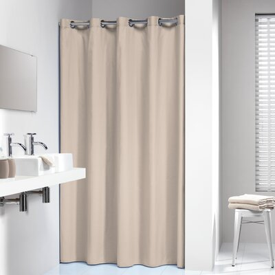 Jethro Solid Shower Curtain Color: Beige