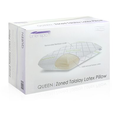 Talalay Latex Zoned High Loft Firm Pillow Size: Queen