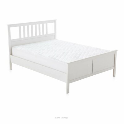 Mattress Pad with Stretch Skirt Size: Queen