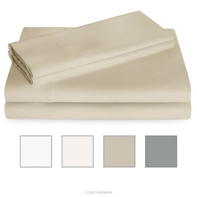 600 Thread Count Sheet Set Color: Sand, Size: Twin
