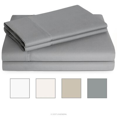 600 Thread Count Sheet Set Color: Stone, Size: King